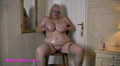 Bbw granny, Playing, Belly, Big belly