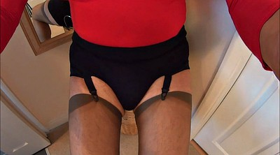 Mature handjob, Crossdress