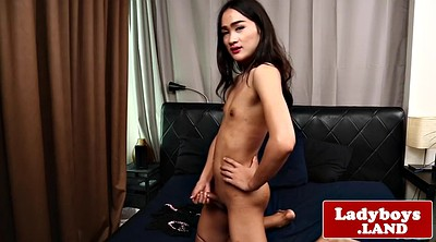 Ladyboy, Asian masturbation, Asian tease, Ass show