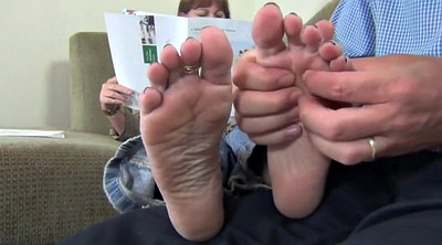 Mature feet, Soles cum