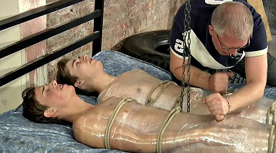 Tied, Milking, Old young gay, Old gay