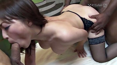 Japanese threesome, Yui, Japanese black, Japanese uncensored