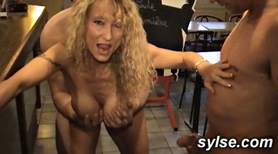 Restaurant, Mature threesome, Mature orgy