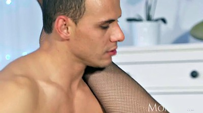 Blindfold, Tied, Tied up, Blindfolded, Fishnet, Mature orgasm