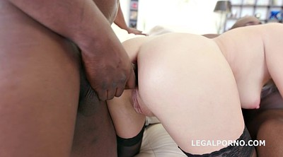 Three, Ebony anal gape