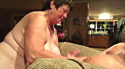 Mature swallow, Mature handjob
