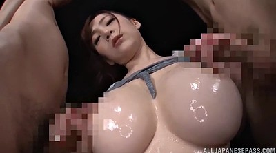 Japanese double penetration, Japanese handjob, Big dick, Busty, Japanese big tit