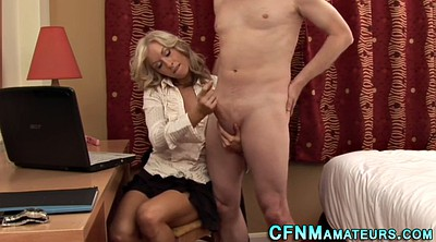 Jerking, Milf jerk, Clothes