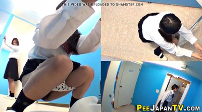 Peeing, Japanese teen, Urine, Urinate, Japanese students, Hairy teens