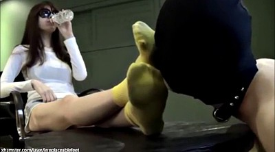 Asian foot, Worship, Socks, Asian femdom