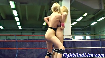 Oral, Fight, Boxing, Lesbian fight, Ring