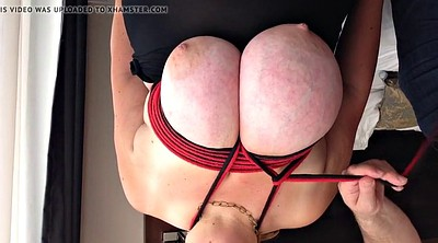 Tied, Huge tits, Big breasts, Nipple big, Huge nipples, Tied tits