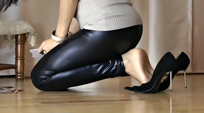 Heels, Shoe, Leather, Footing