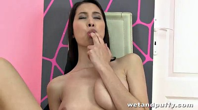 Tits play, Insert, Long toy, Long hair play