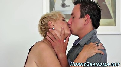 Spitting, Granny blowjob