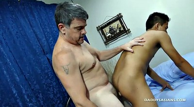 Daddy gay, Young boy, Asian old, Gay young