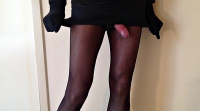 Nylons, Stockings masturbation, Hot shemale