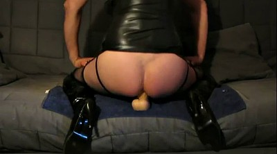 Latex, Riding dildo, Latex boots