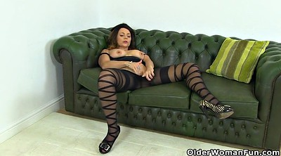 Nylon, Mature pantyhose, Nylon mature
