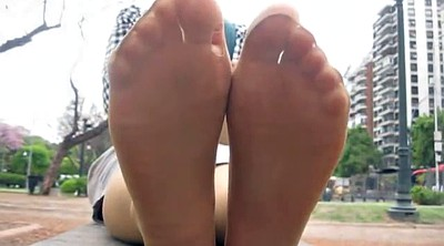 Pantyhose, Milf feet, Work, Tanned, Pantyhose foot