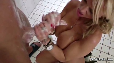 Mom son, Mom and son, Shower, Step son, Mom handjob, Son mom