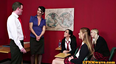 Classroom, In front of, Teacher upskirt, Student sex, Front