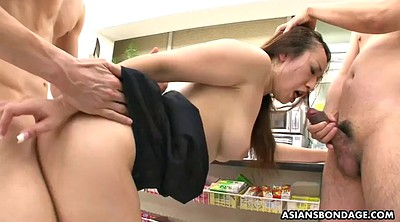 Japanese big tits, Japanese threesome, Milf creampie, Ayumi, Japanese cougar