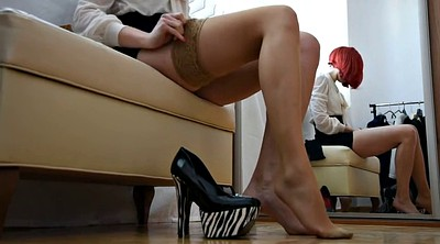 High heels, Stockings