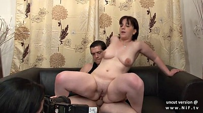 French anal, Facial, Anal casting, French milf