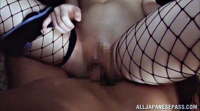 Oiled, Fishnet, Vibrating panties