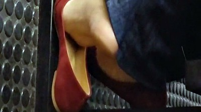 Candid, Subway, Fetish, Brazilian foot, Candids
