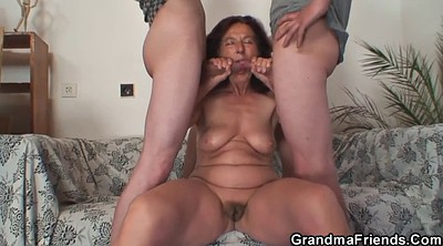 Wife threesome, Wife ride, Wife milf, Granny threesome, Granny and young