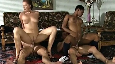 Foursome, Cunt, Ebony girl, Interracial foursome, Girls group