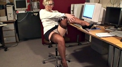 Nylons, Mature stockings, Office nylon, Milf nylon