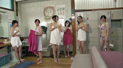 Time stop, Sauna, Japanese uncensored, Asian granny, Granny creampie, Spa