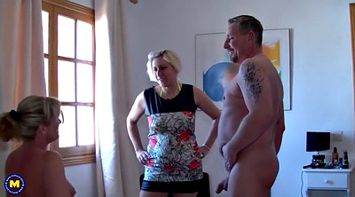 Family, Happy, Threesome mature, German family, Family amateur