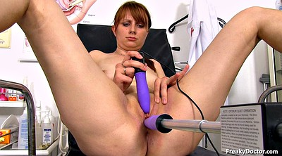 Doctor, Old young, Speculum, Insert, Granny tits