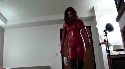 Boot, Red boots, Catsuit