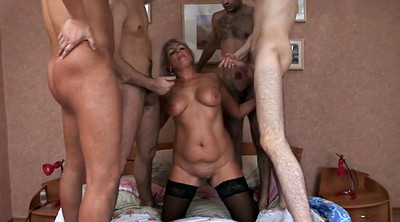 Mature group, Double pussy