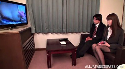 Office fuck, Asian office, Pantyhose fuck