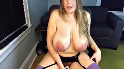 Saggy, Saggy tits, Huge natural tits, Big mom, Big dildo