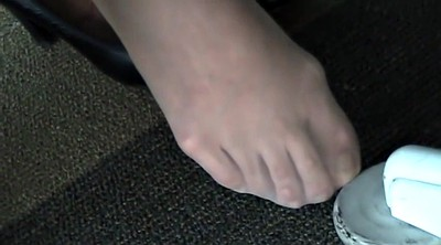 Candid, Library, Nylon foot, Nylon fetish, Nylon feet, Candid feet