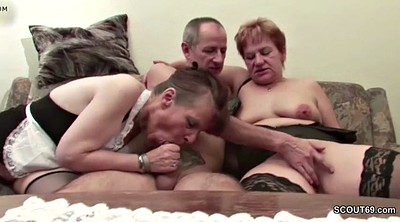 German, Mature casting, Mature threesome, Granny threesome, German granny, Casting mature