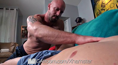 Hard fuck, Gⅰr muscle, Gay daddy, Young blowjob