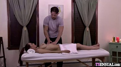 Shemale massage, Shemale fucks guy, Massage anal