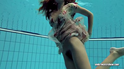 Dress, Pool, Underwater, Hairy solo