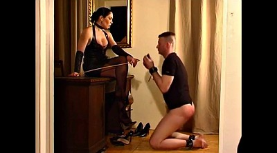 Leather, Hard spanking, Mistress foot, Hard spank