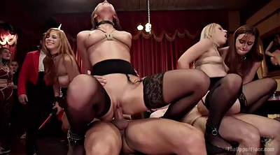 Group, Tied up, Tied, Submissive