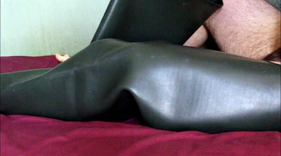 Boot, Thigh boots, Rubber