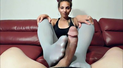 Footjob, Nylon footjob, Pantyhose footjob, Nylon feet, Pantyhose feet, Nylon foot